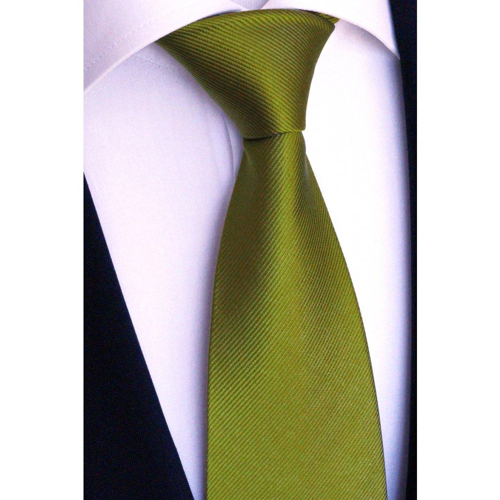 Svatební kravata zelená Beytnur 76-12