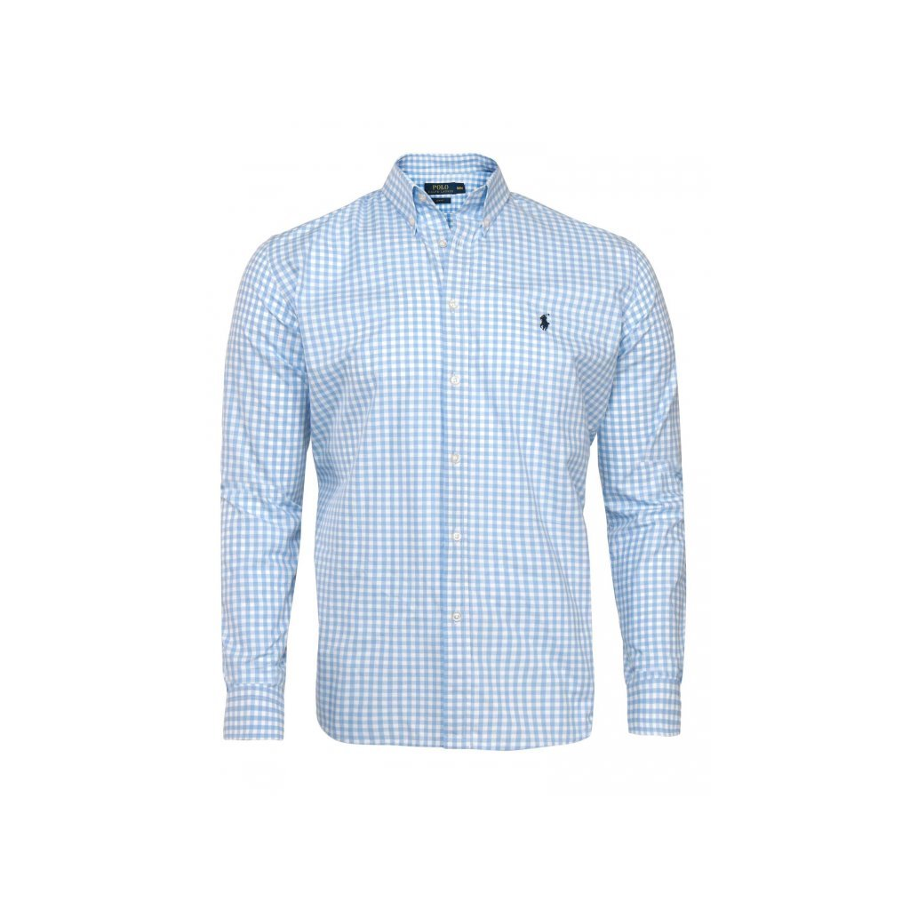 Ralph Lauren pánská košile modro-bílá