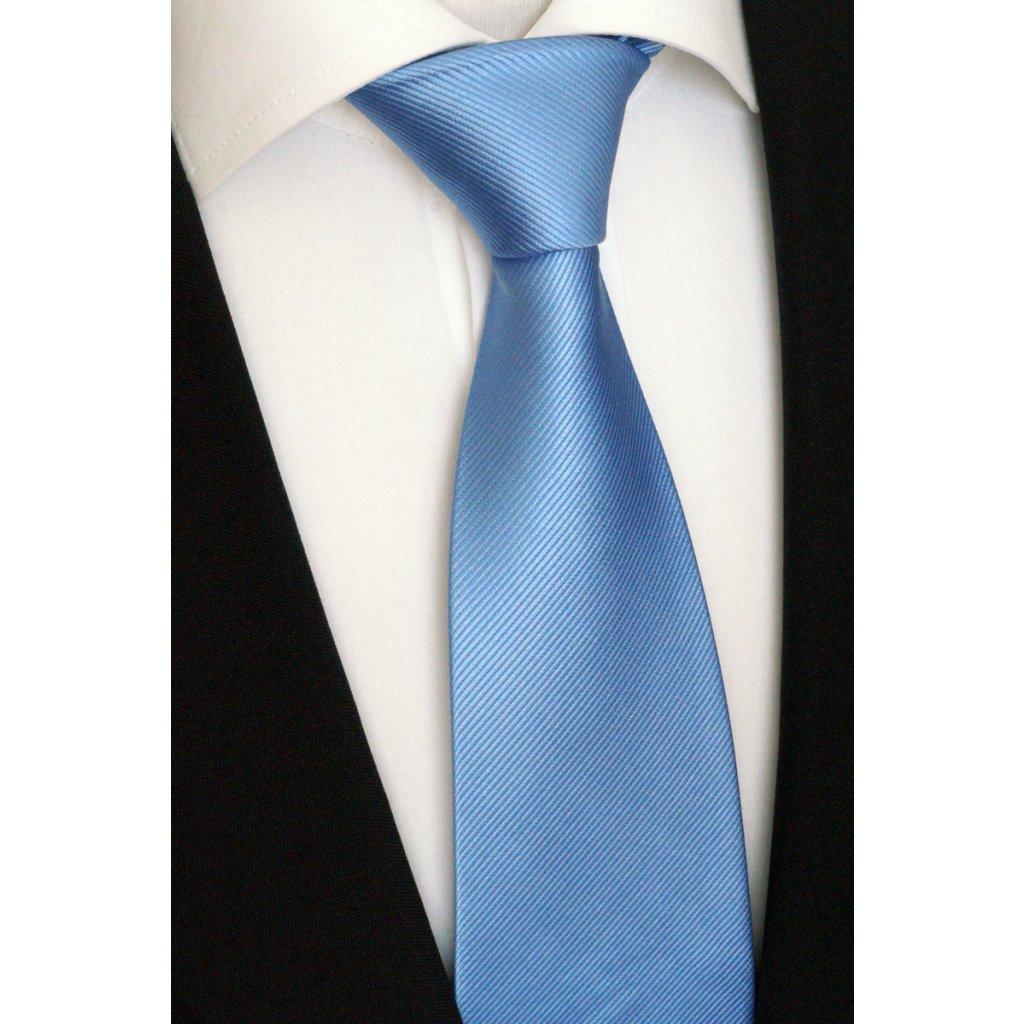 hedvábná modrá kravata