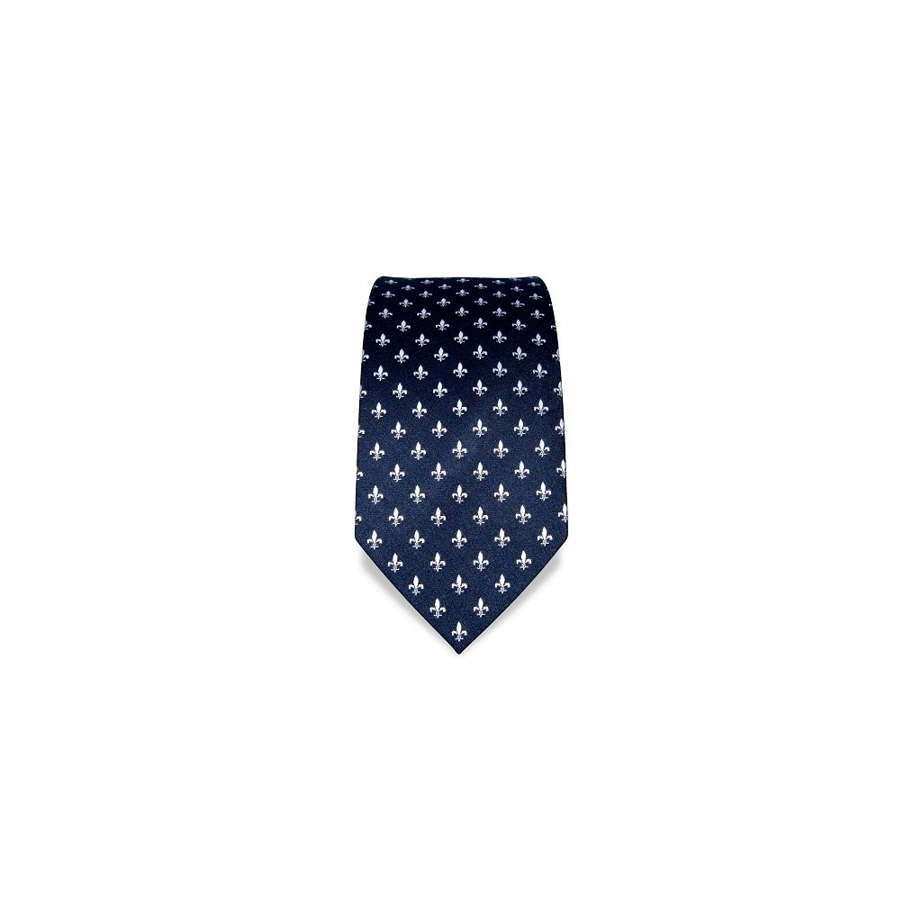 Lilie modrá kravata Vincenzo Boretti 21974