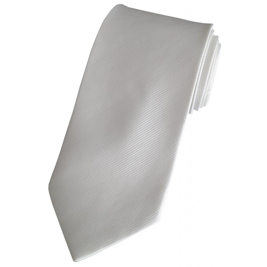 Bílá svatební kravata Beytnur 76-1