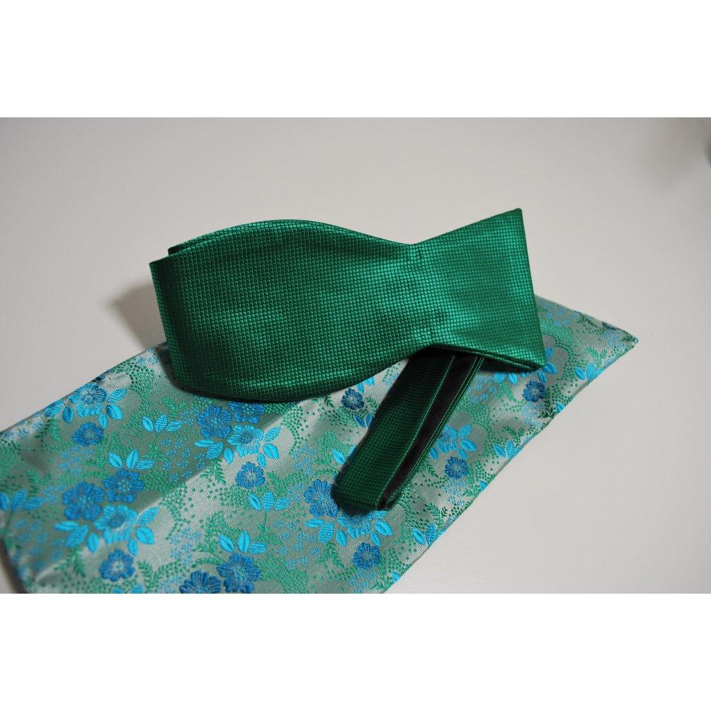 Zelený set motýlek a kapesníček