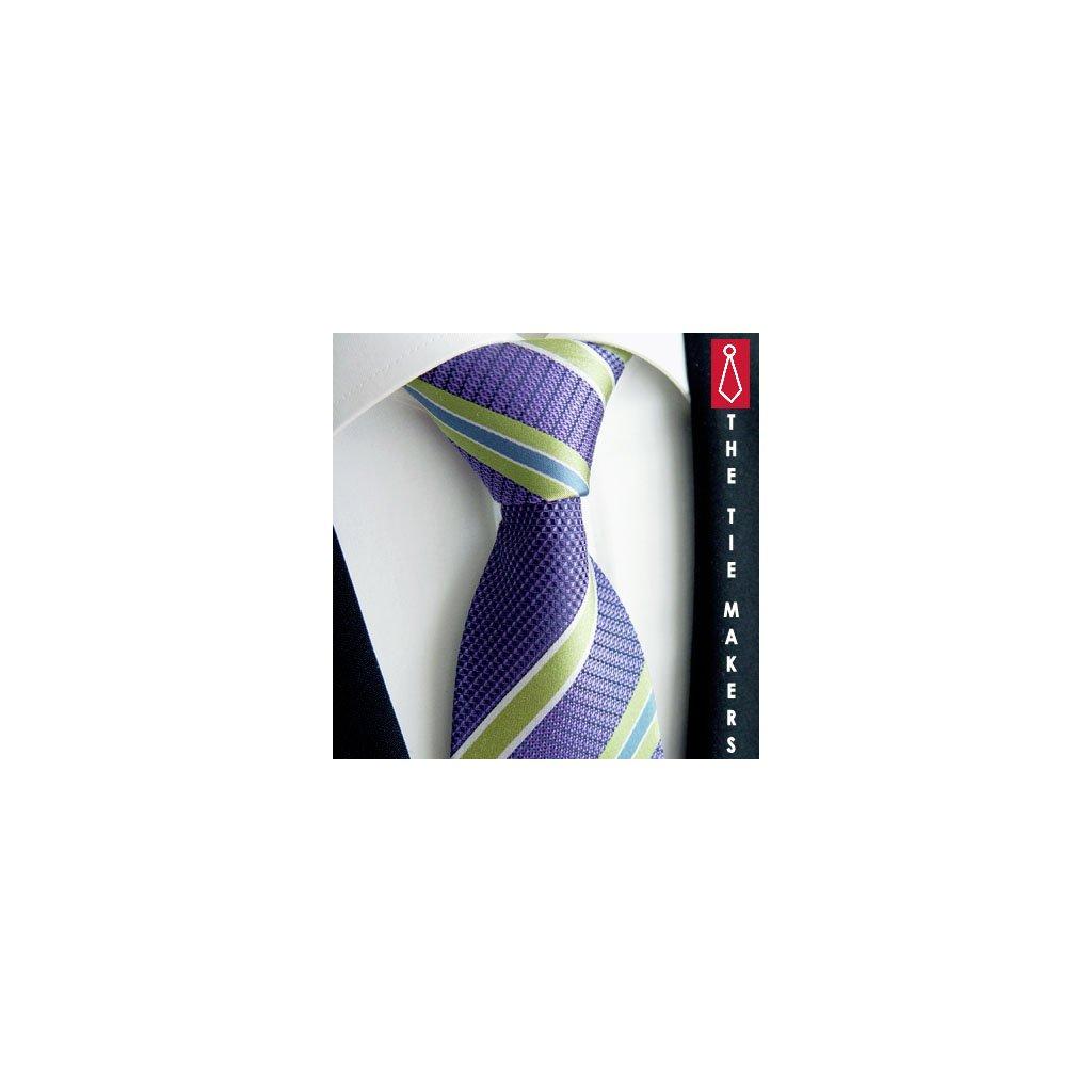 Luxusní fialová kravata Beytnur 210-3