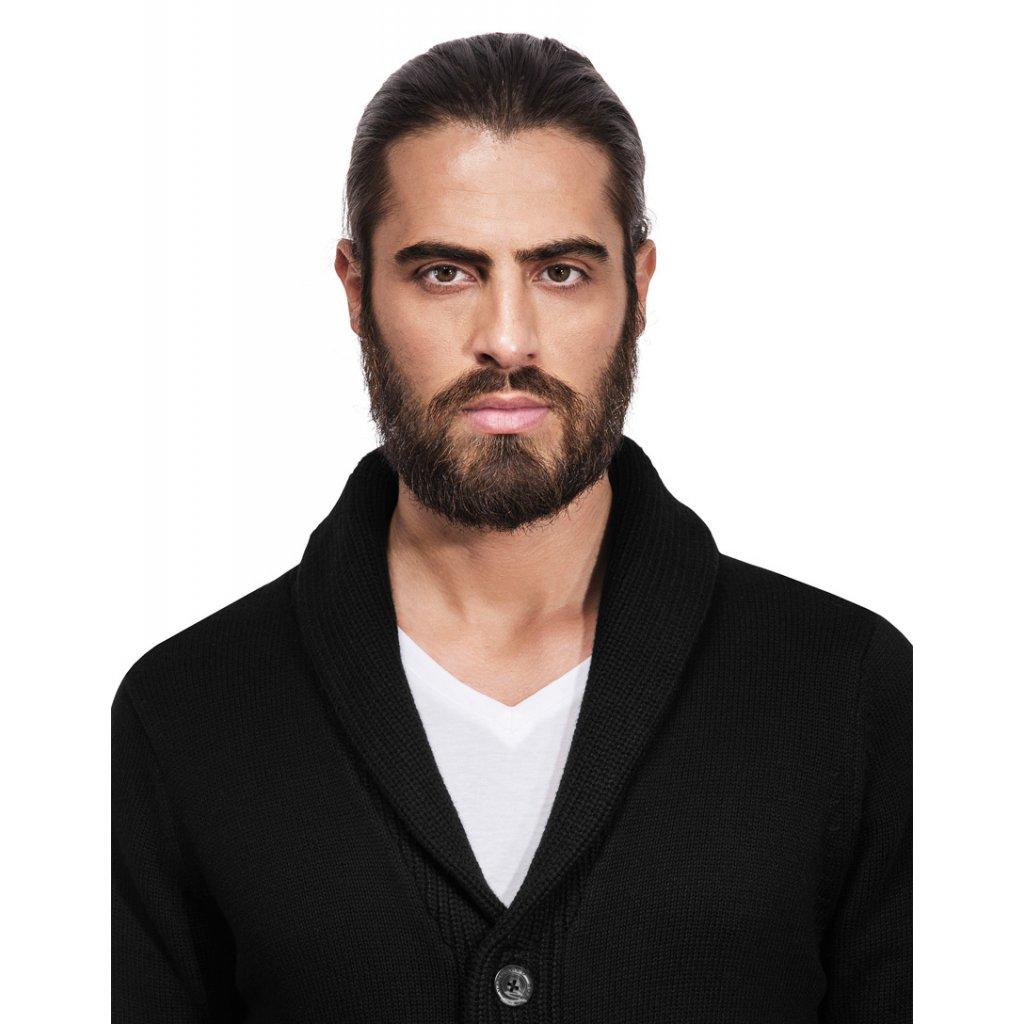 Pánský svetr na knoflíky Vincenzo Boretti - černý - Luxusní móda 2f0a0a3e84