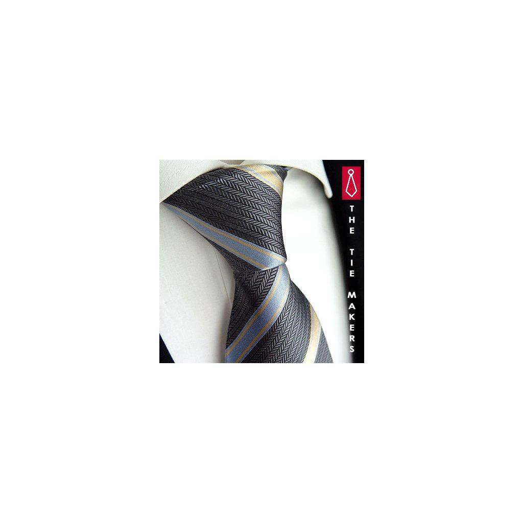 Luxusní antracitová kravata Beytnur 204-1