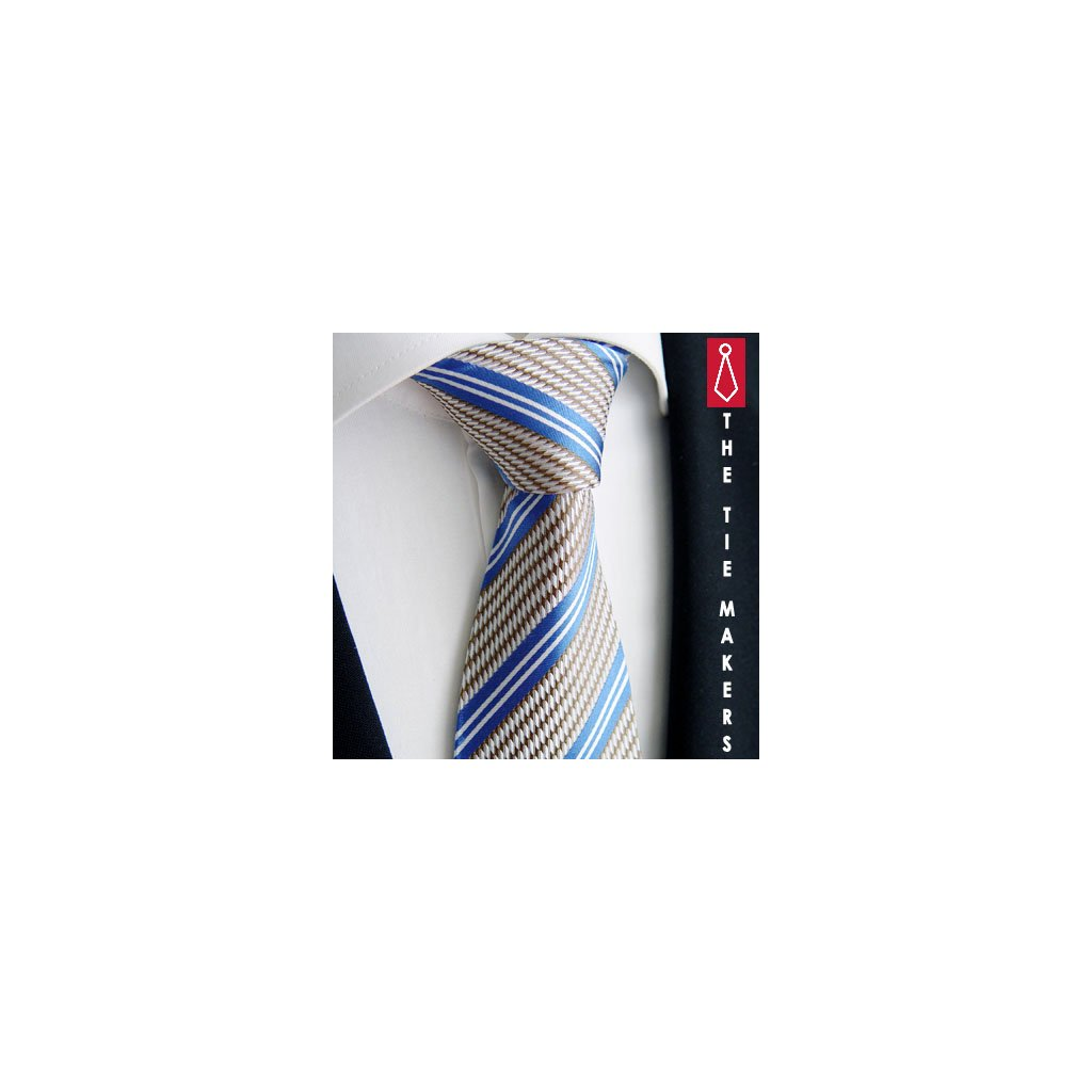 Luxusní modrohnědá kravata Beytnur 212-3