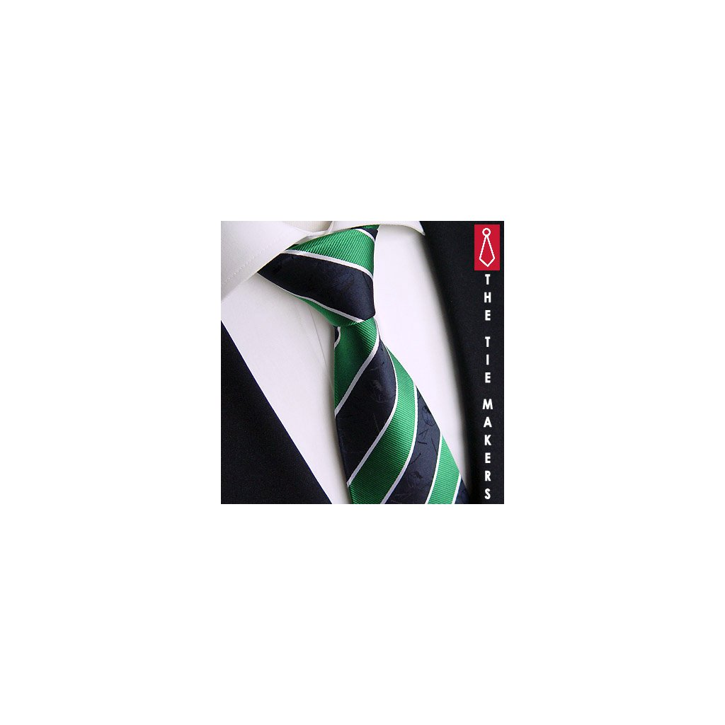 Zeleno modrá kravata Beytnur 126-2