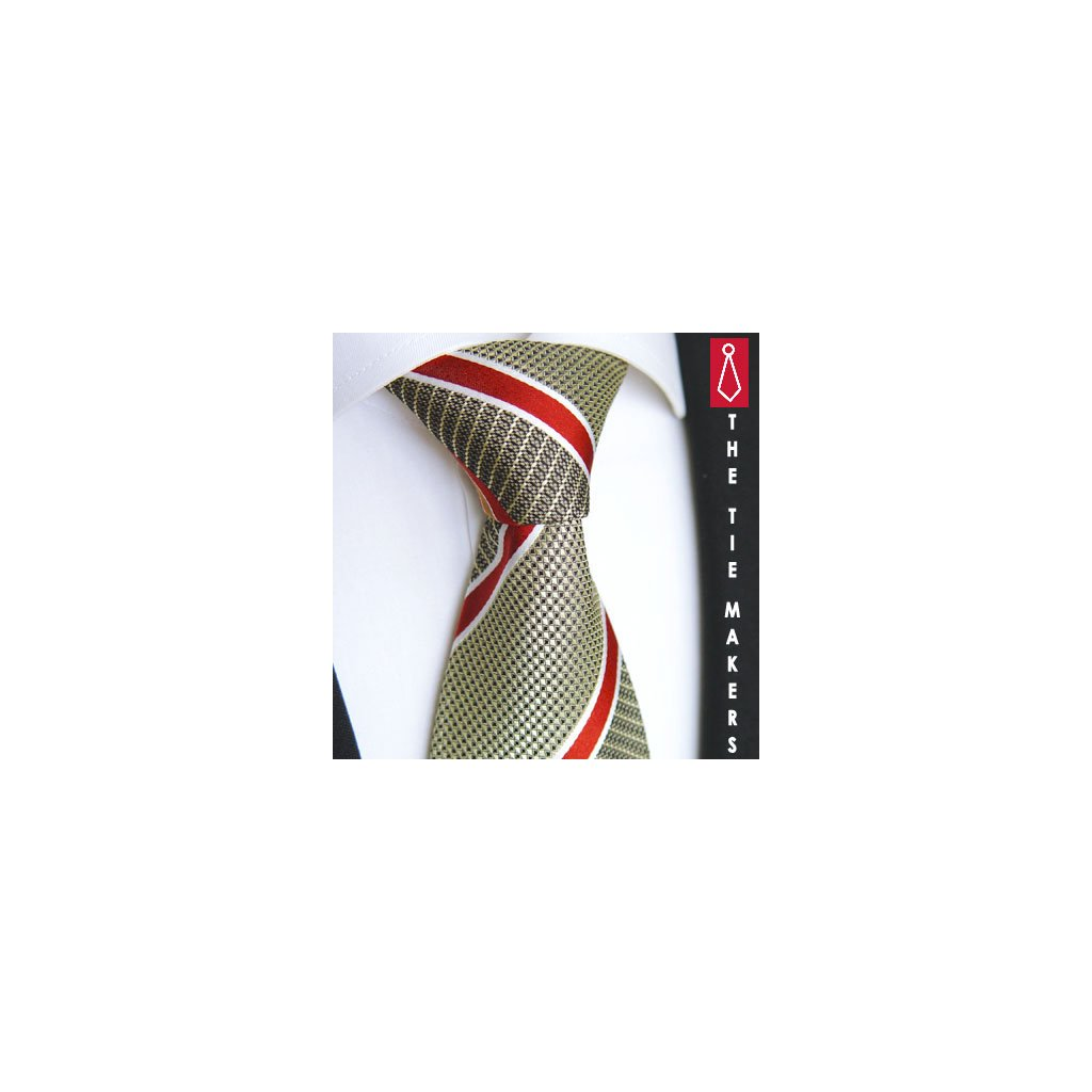 Luxusní zelená kravata Beytnur 210-4
