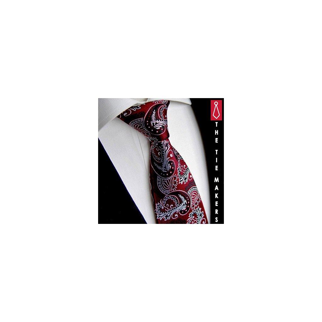 Exkluzivní bordó kravata Beytnur 236-2