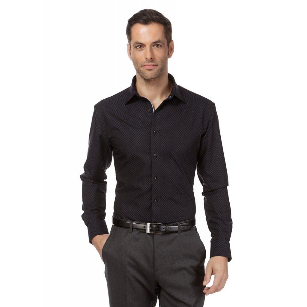 černá luxusní košile VB 10010779 black 1