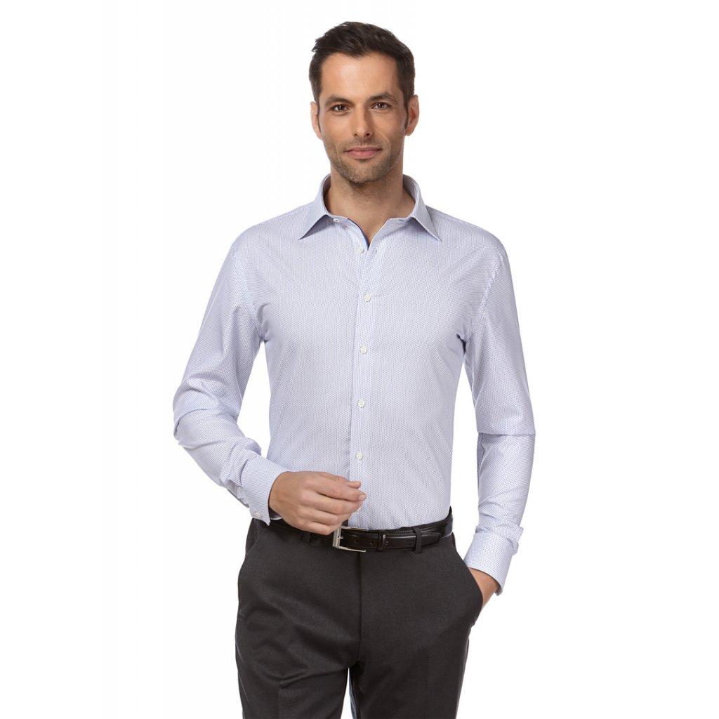 Luxusní bílá košile struktura 10010779 white 1