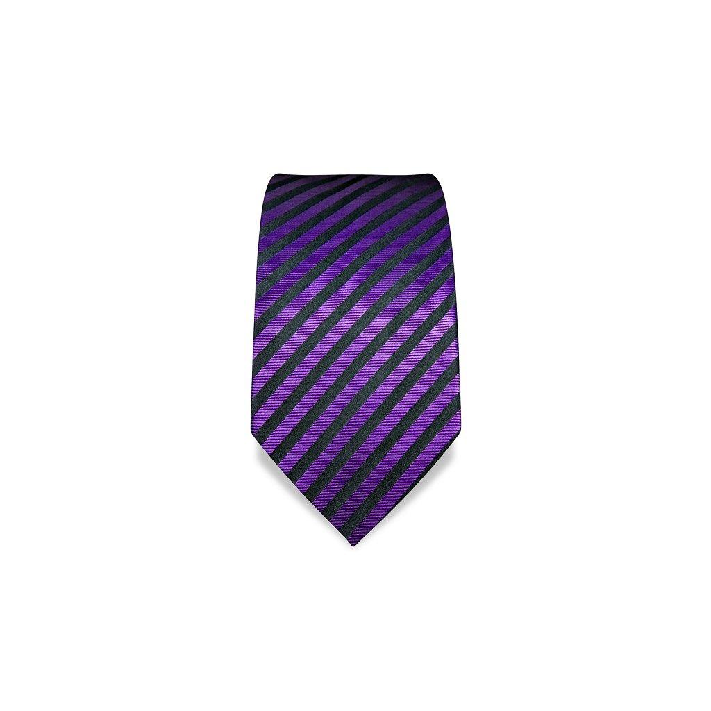 Fialová pruhovaná kravata Vincenzo Boretti 1791