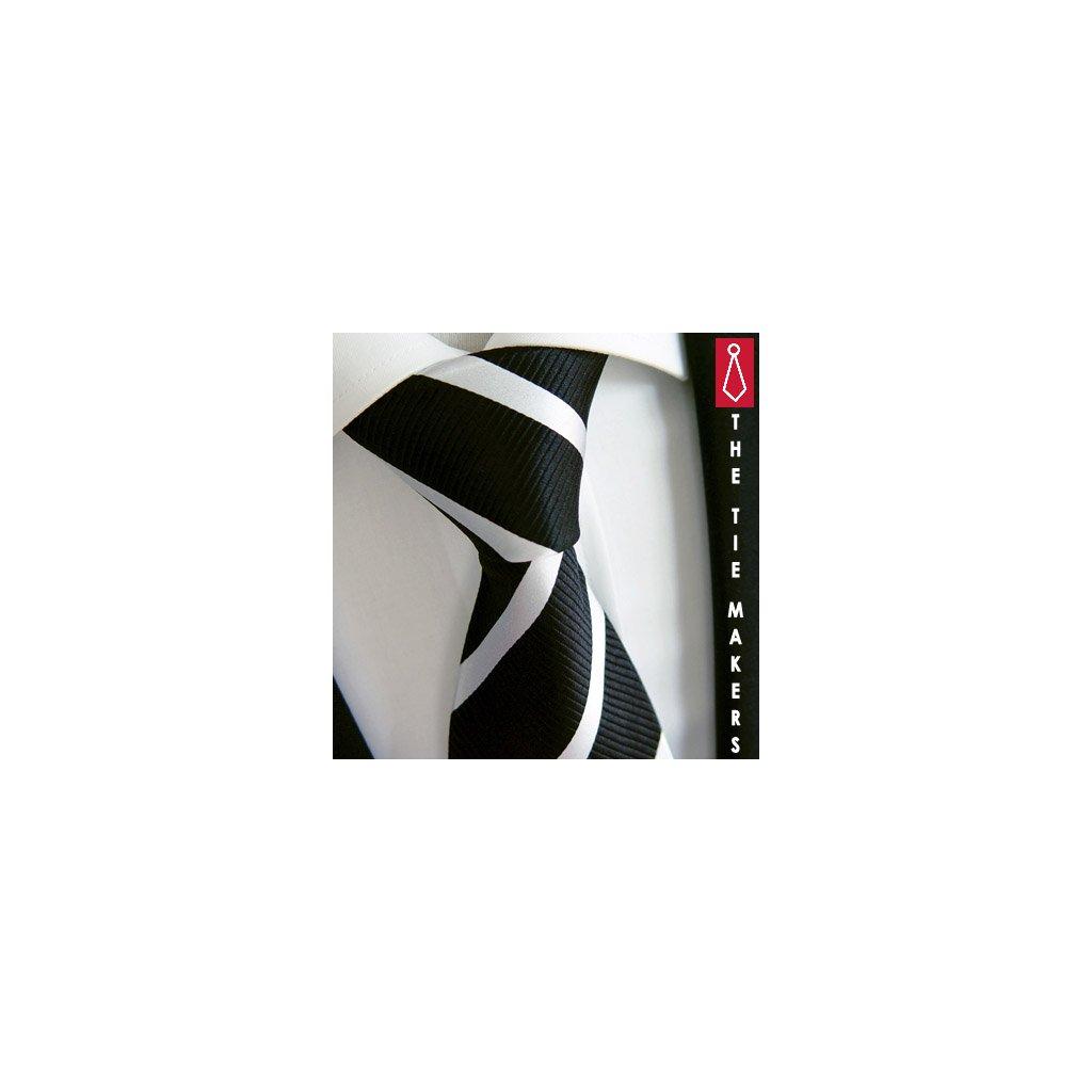 Luxusní černá hedvábná kravata Beytnur 2-2
