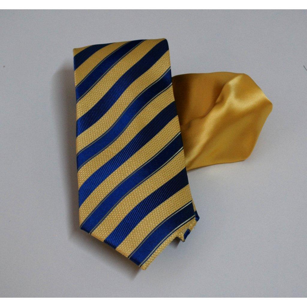 Žlutý set kravaty a kapesníčku