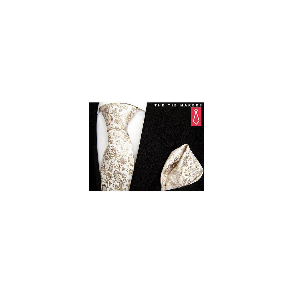 Beytnur 45-3 svatební kravata s kapesníčkem
