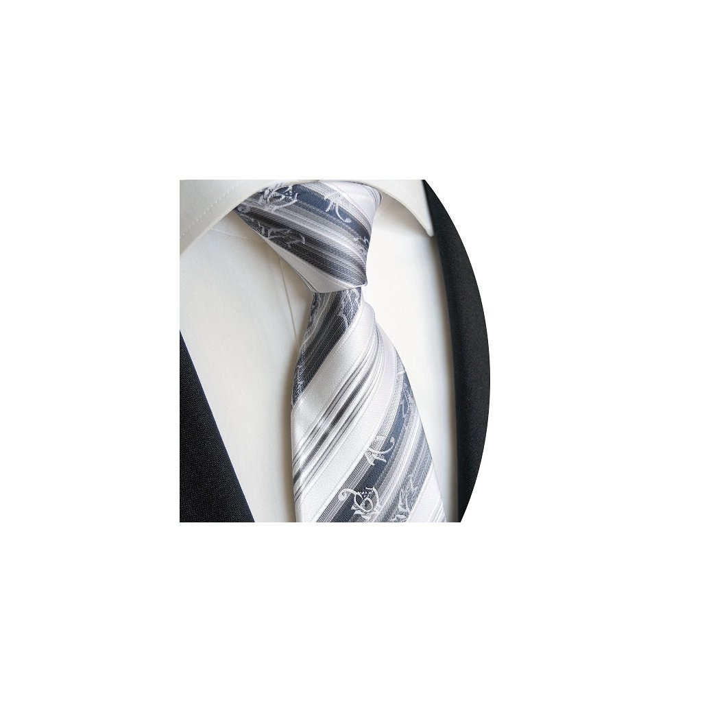 Luxusní modrošedá kravata Beytnur 221-2