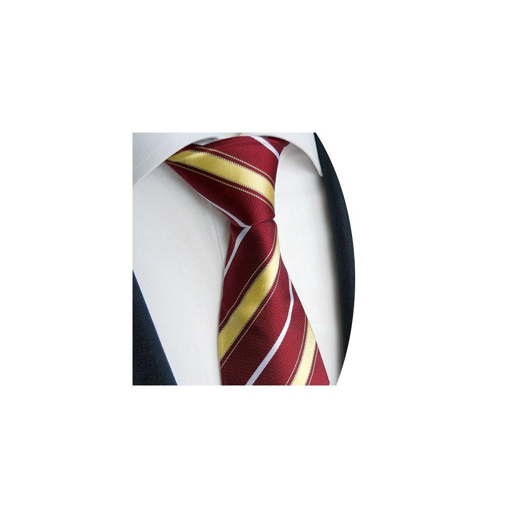 Luxusní vínová kravata Beytnur 227-1