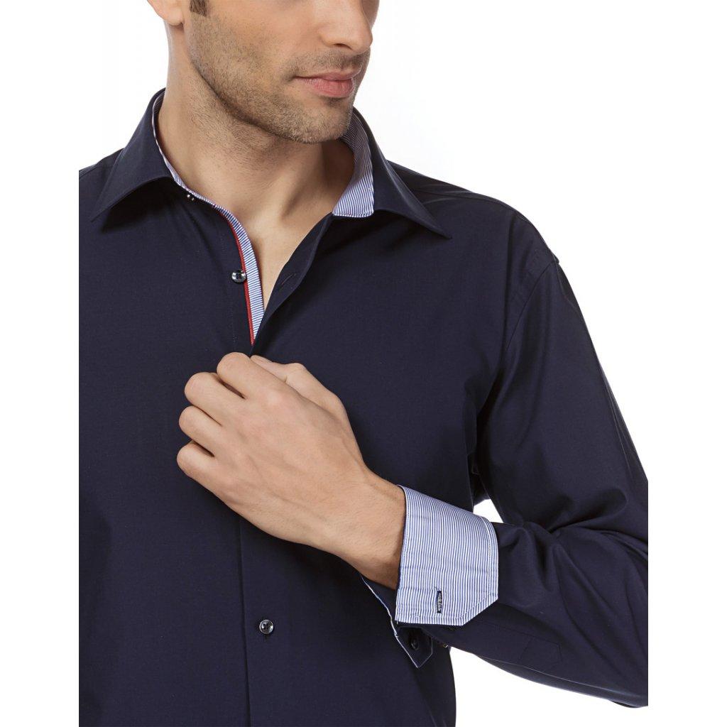 Tmavě modrá košile regular fit