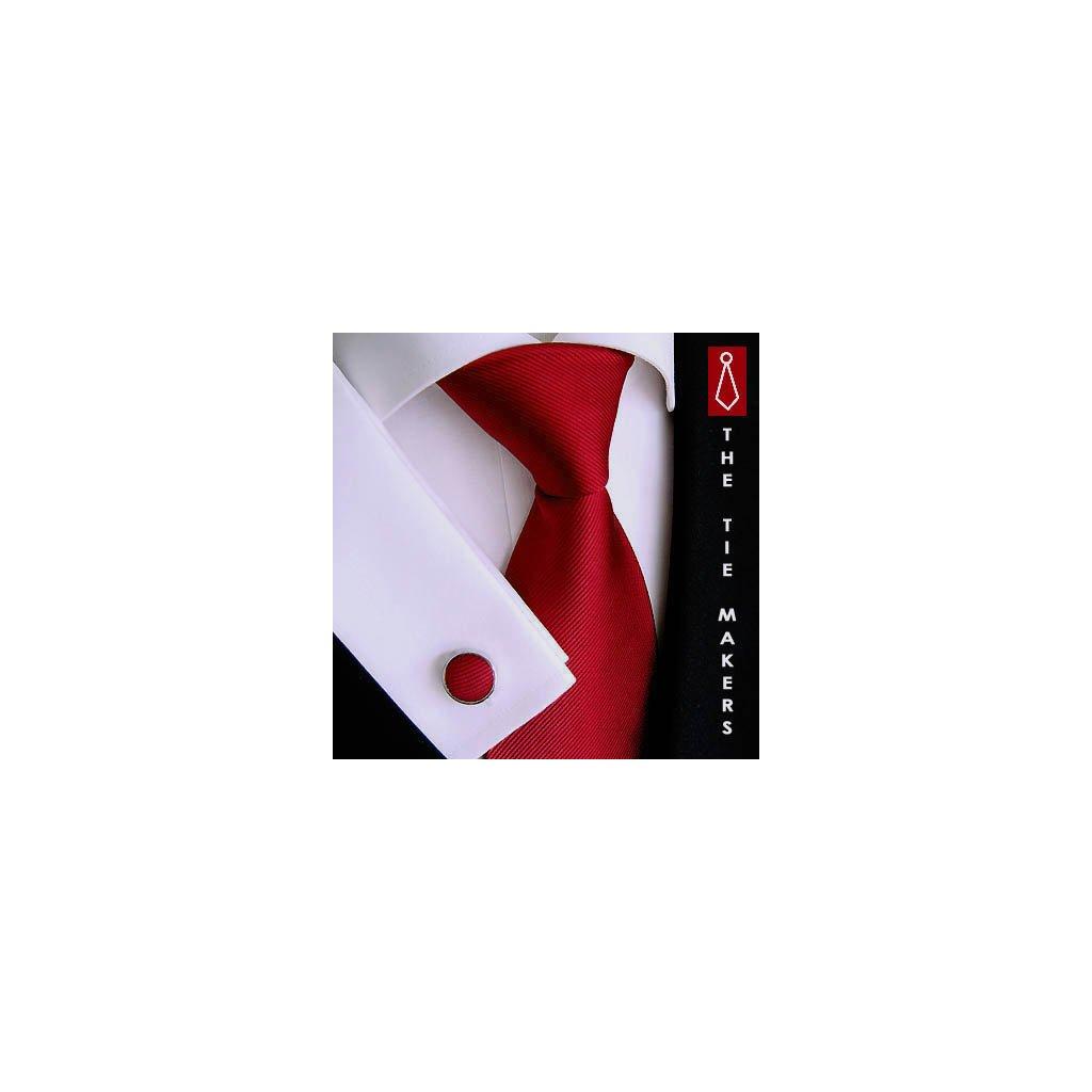 Luxusní červená kravata Tom Harrison 900-32