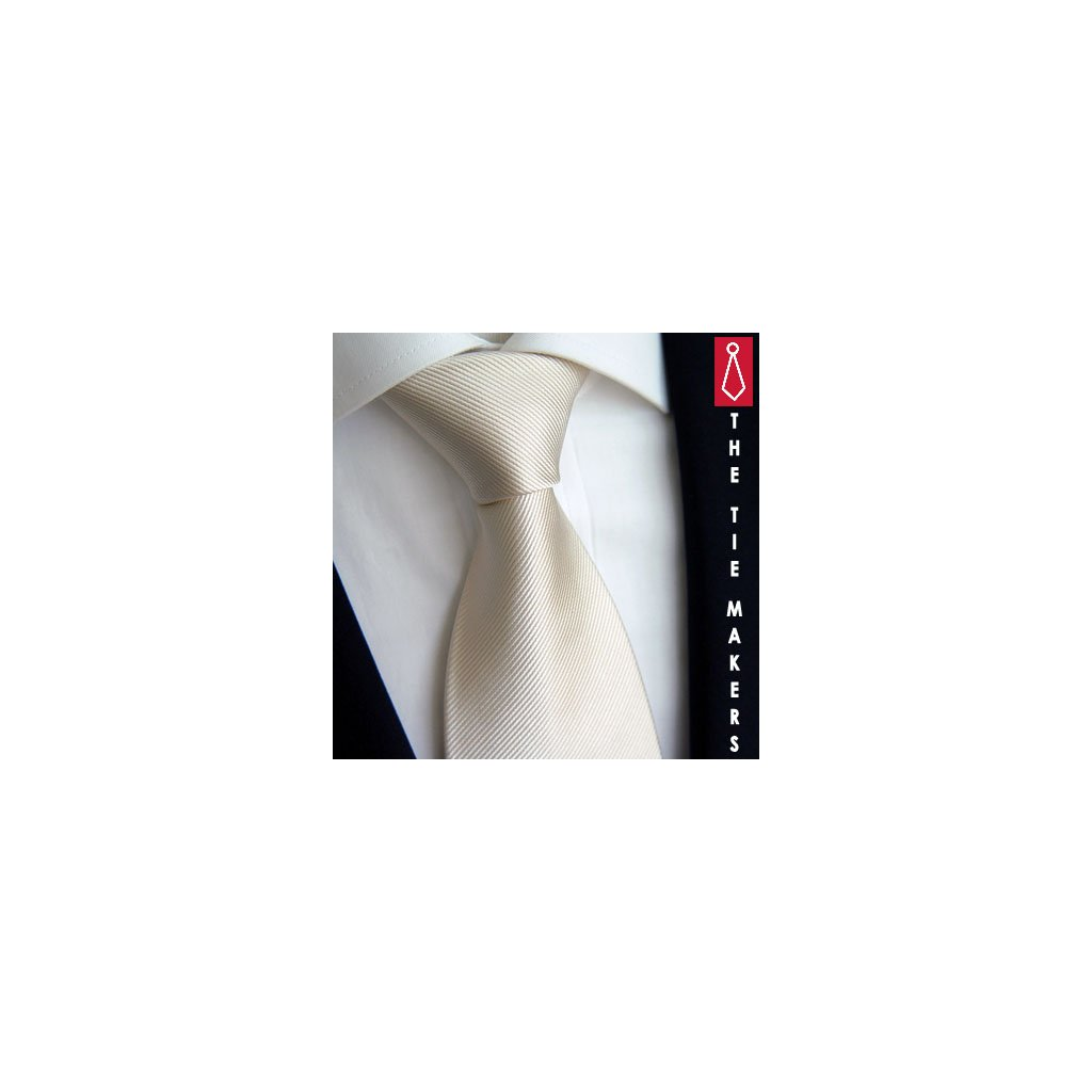 béžová jednobarevná kravata