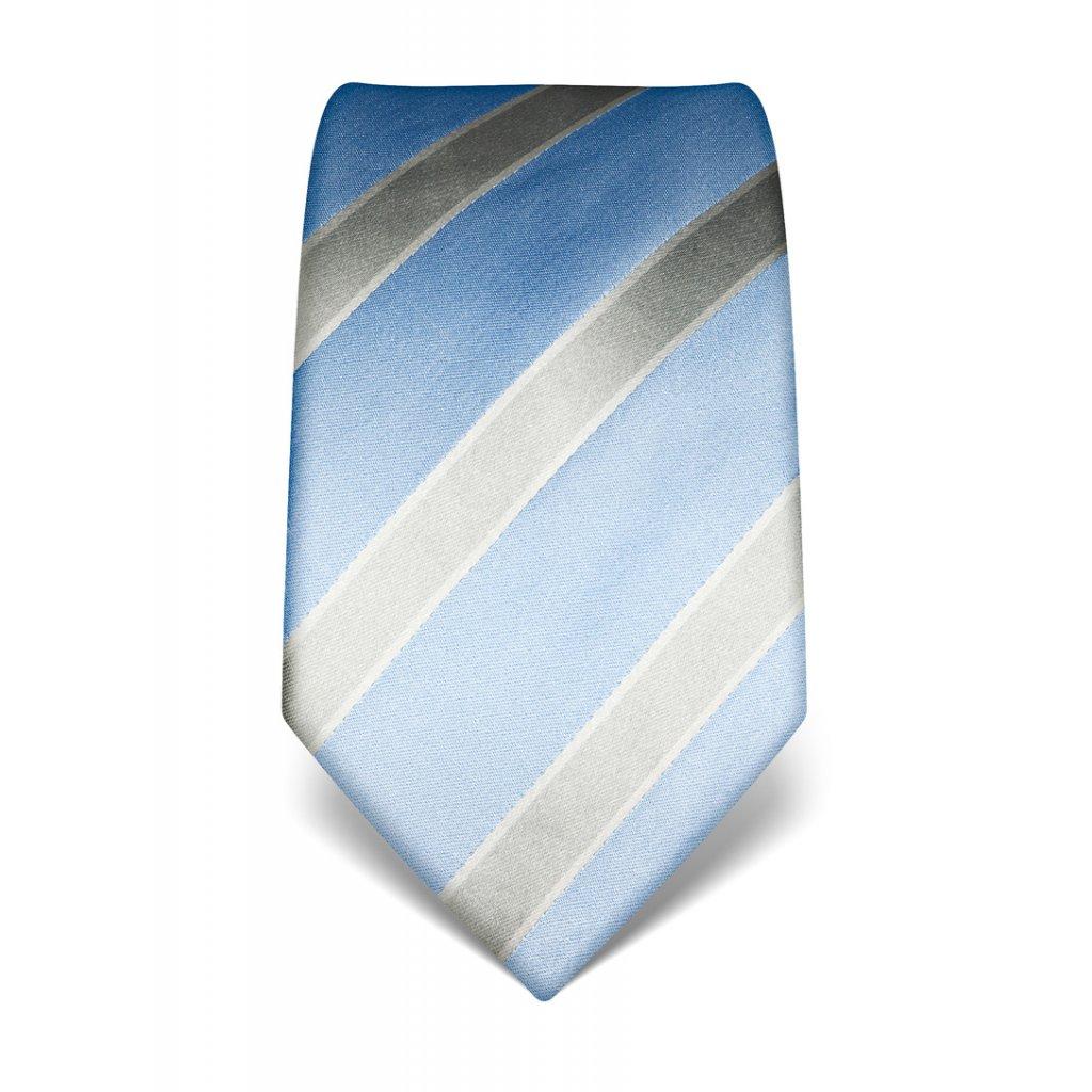 Vincenzo Boretti hedvábná kravata - pruhy modrá