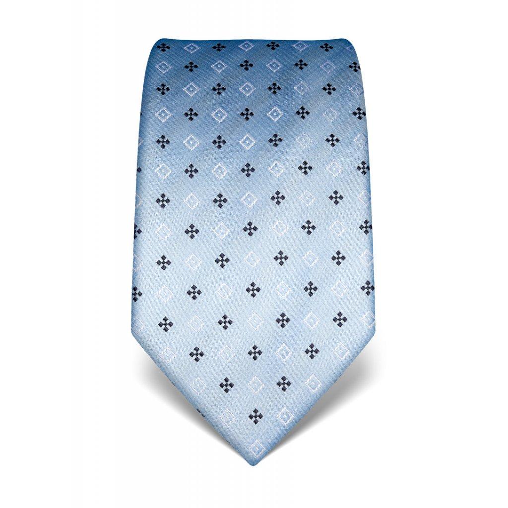 Hedvábná kravata modrá nevšední vzor 21987