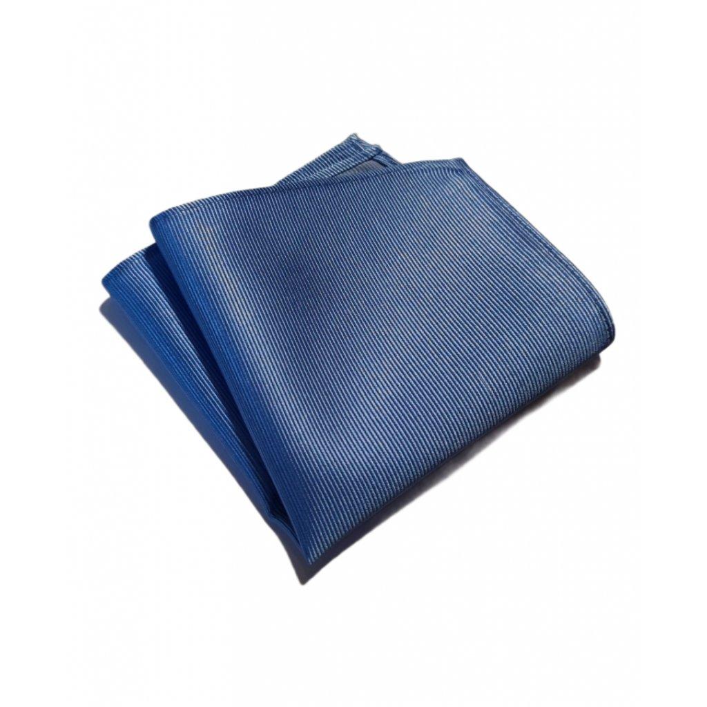 Hedvábný kapesníček modrý 76 13