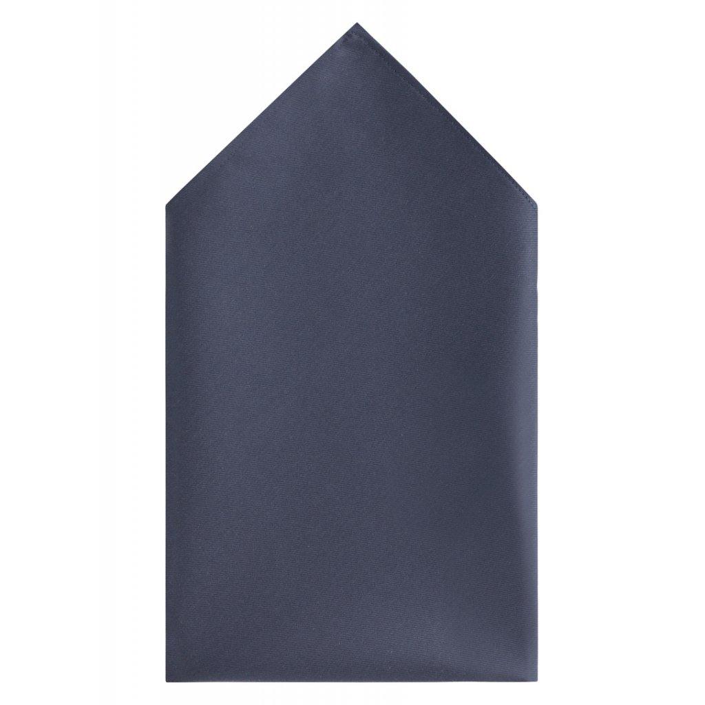 Bavlněný kapesníček Vincenzo Boretti - tmavě šedý