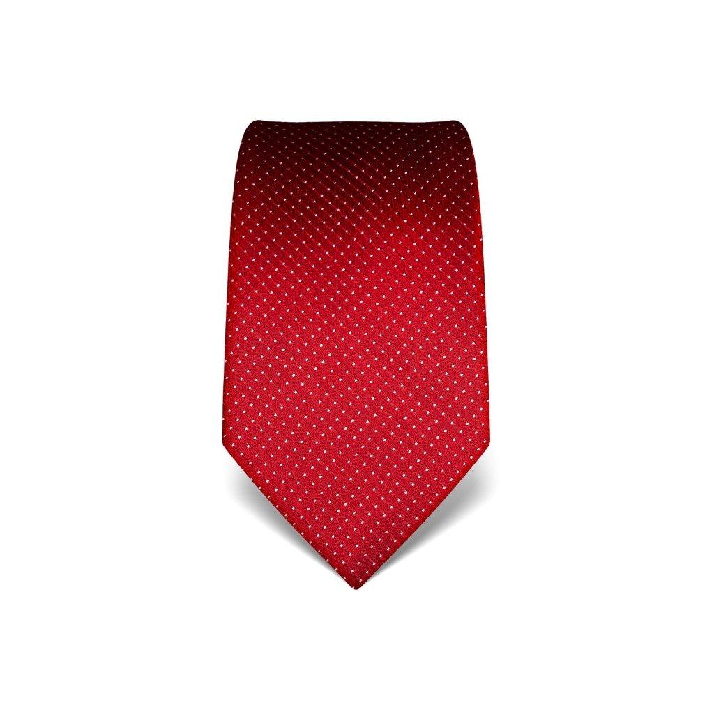 Červená manažerská kravata s prošitím V. Boretti 21991