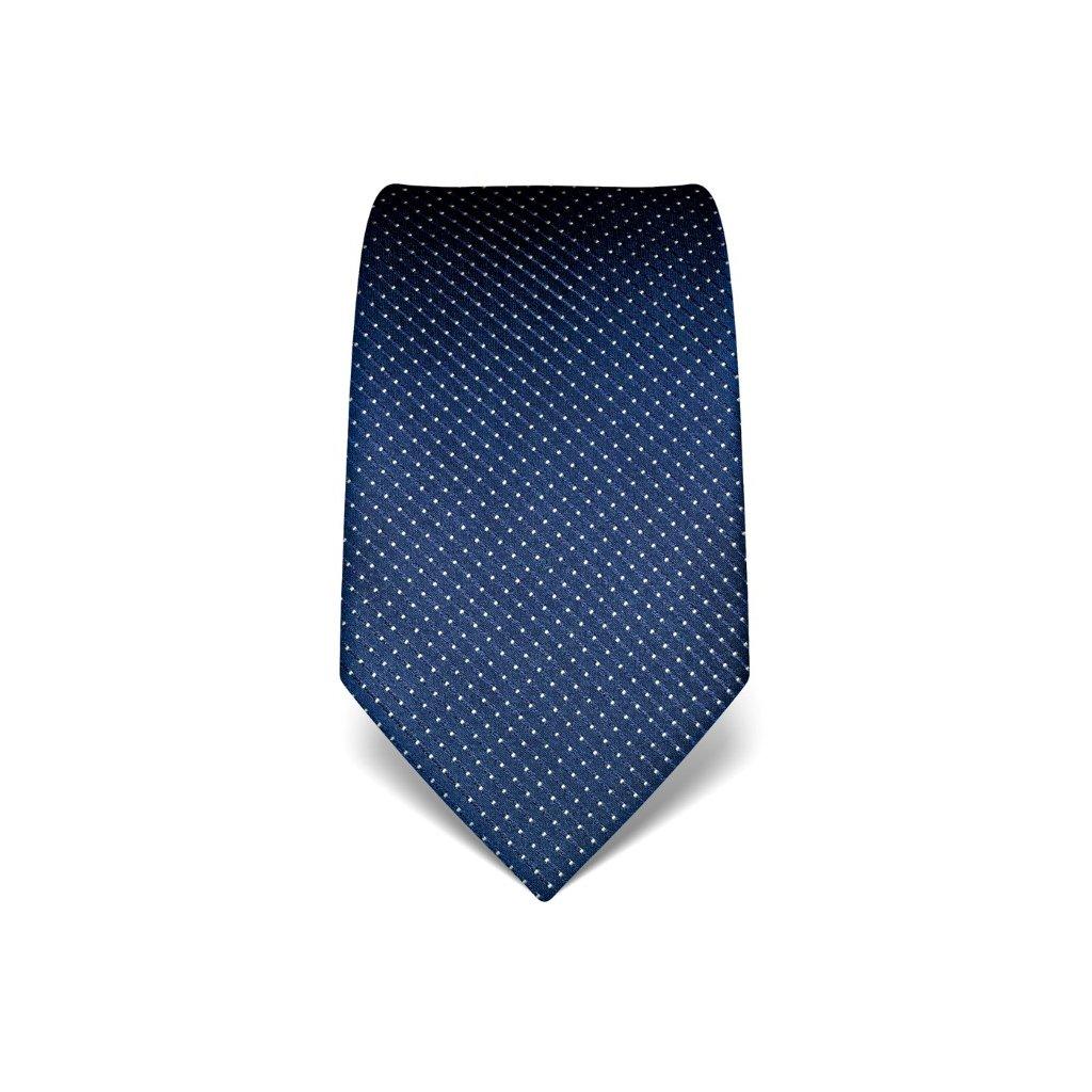 Manažerská modrá kravata s prošitím V. Boretti 21939