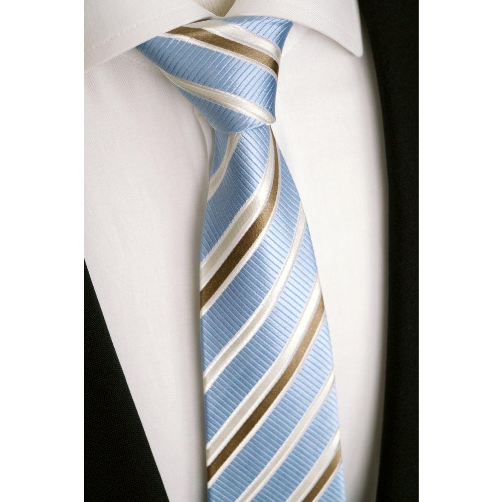 modrá jemná kravata