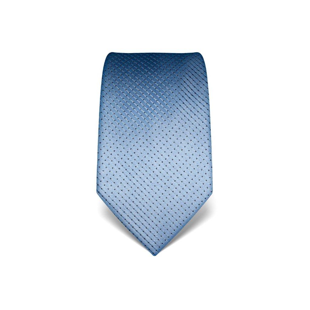 Luxusní sv. modrá kravata s prošitím V. Boretti 21939