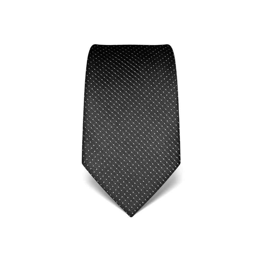 Luxusní antracit kravata s prošitím V. Boretti 21991