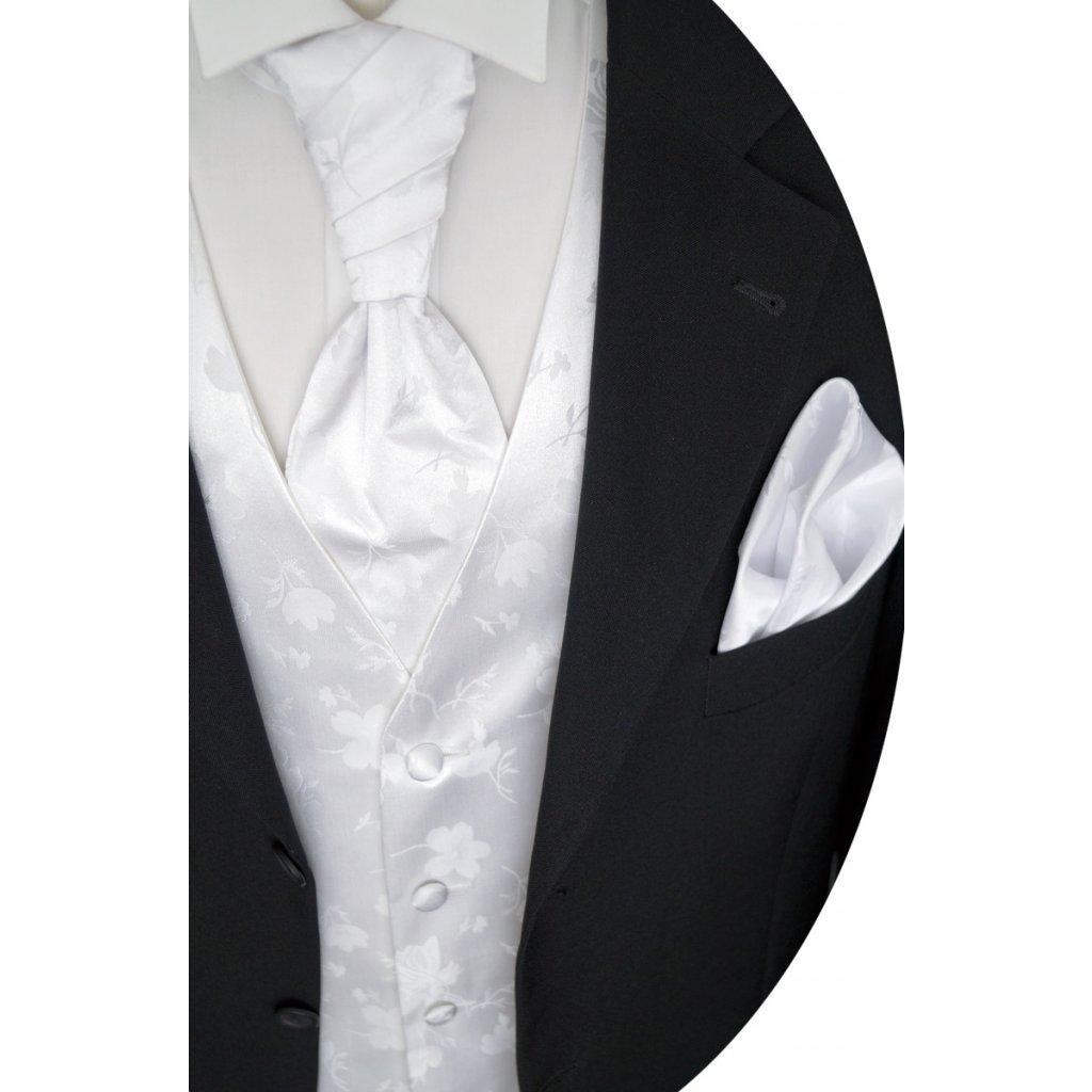 svatební vesta bílá