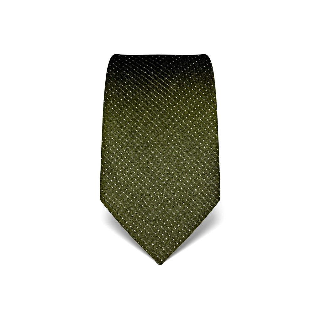 Luxusní zelená kravata s prošitím V. Boretti 21991