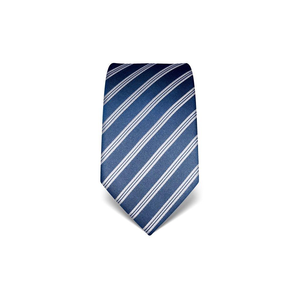 Luxusní  kravata Vincenzo Boretti 21945 - šedomodrá