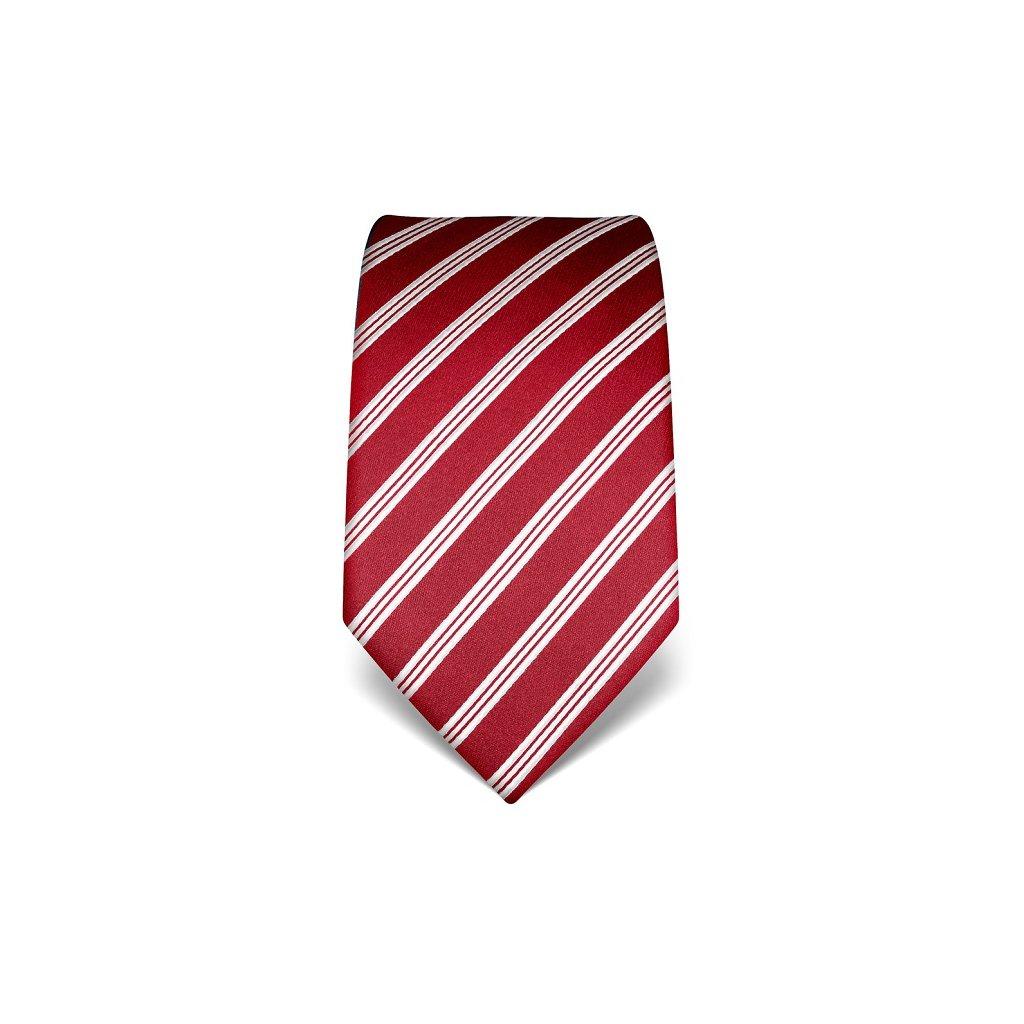 Luxusní  kravata Vincenzo Boretti 21945 - tmavě červená