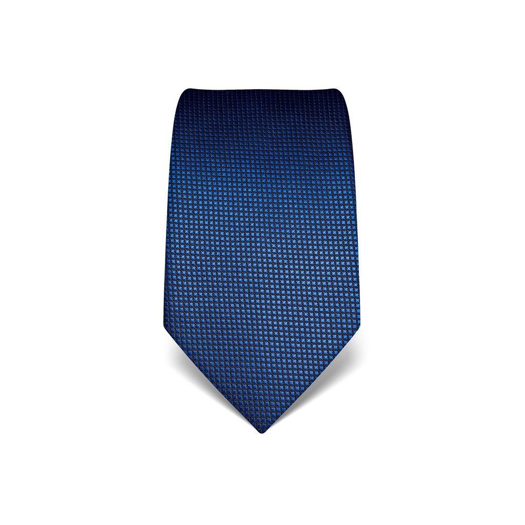 Modrá kravata Vincenzo Boretti 21986 - struktura čtvereček