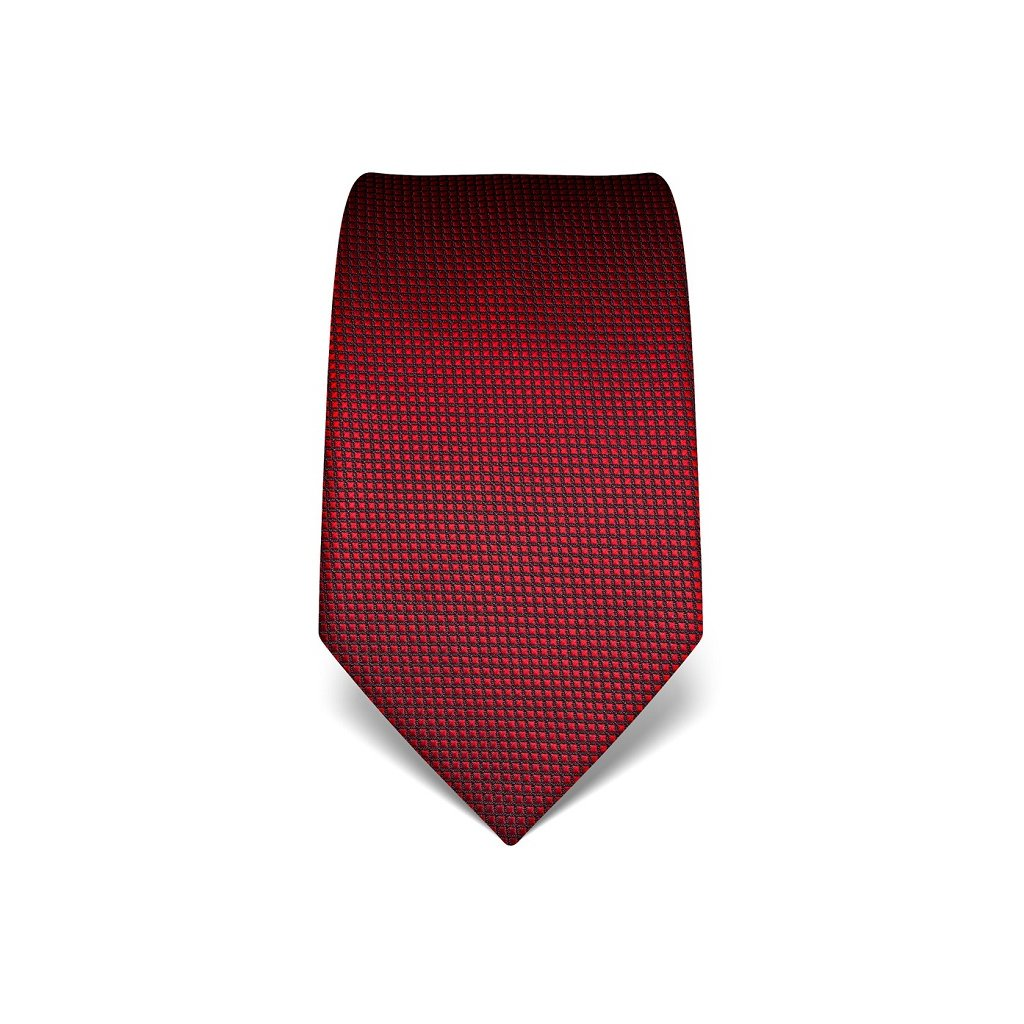 Čevená kravata Vincenzo Boretti 21989 - struktura čtvereček