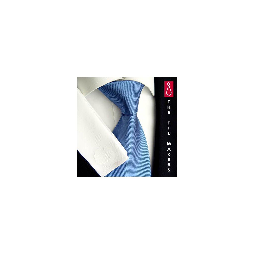Modrá jednobarevná kravata Beytnur 900-26