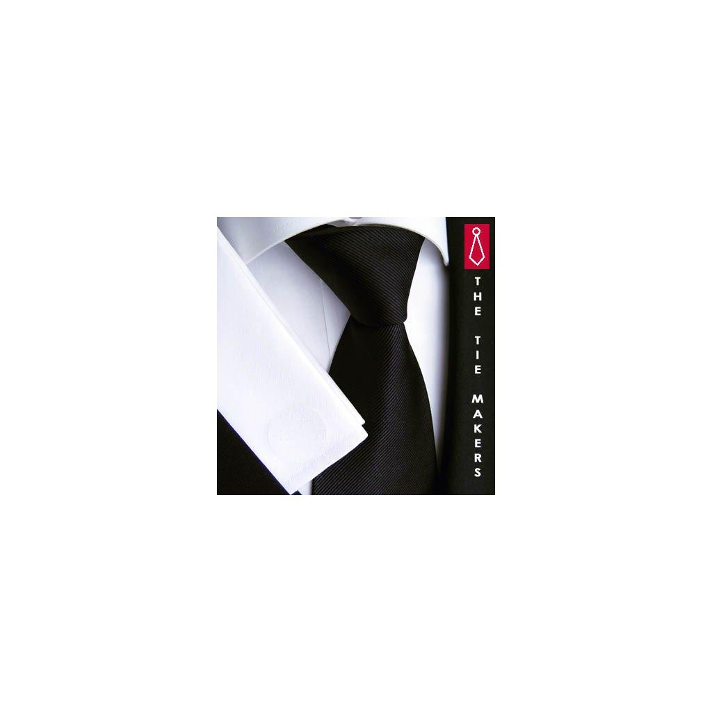 Černá jednobarevná kravata Beytnur 900-24