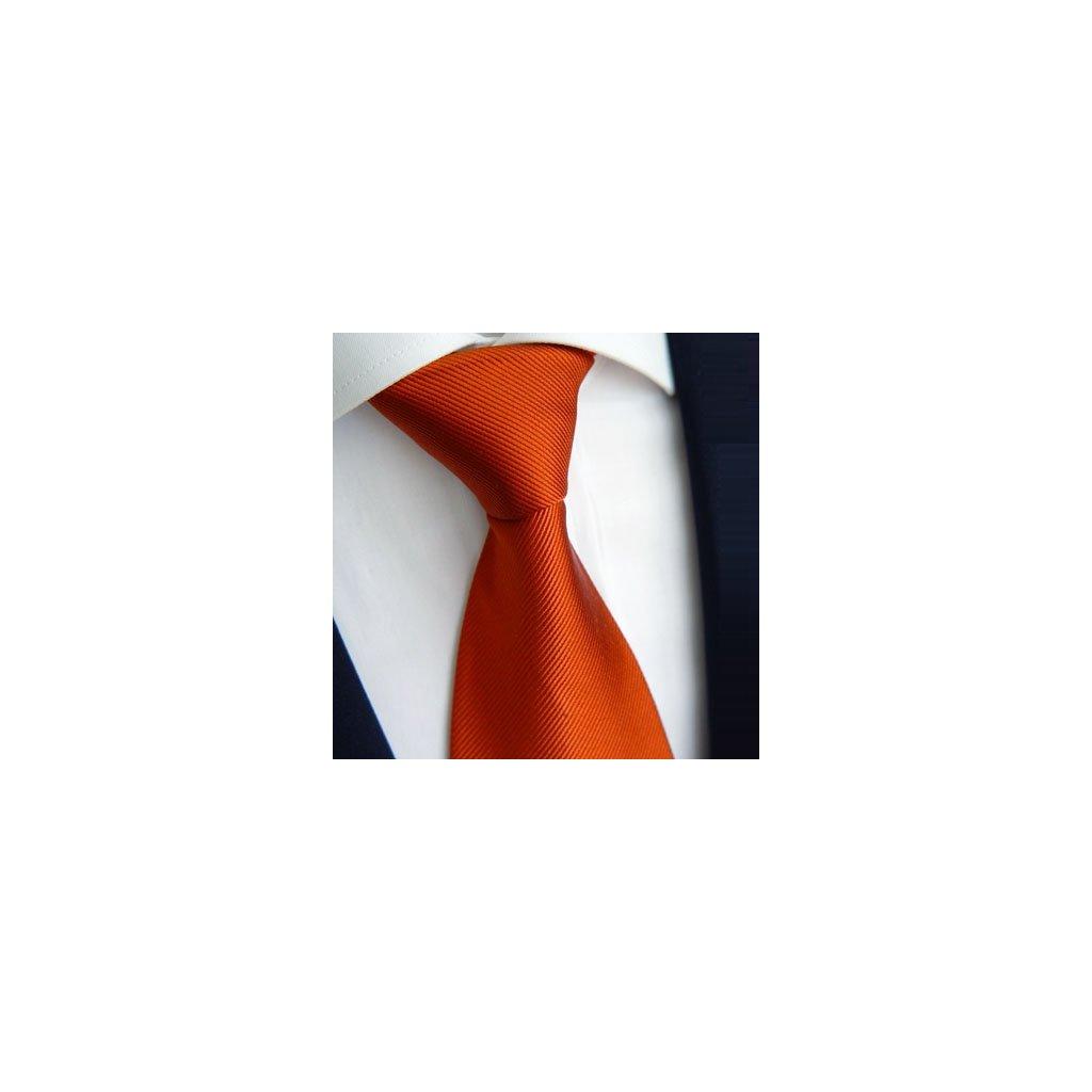 Oranžová jednobarevná kravata Beytnur 900-30