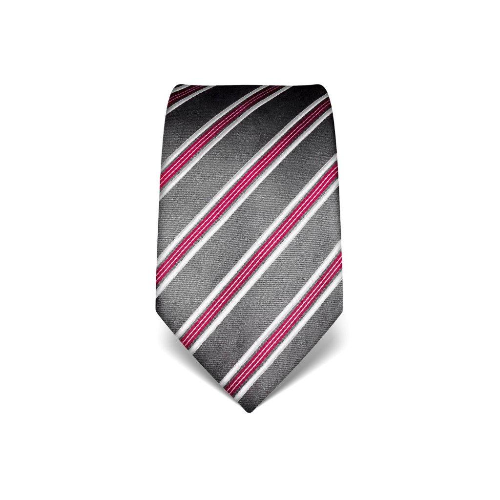 Elegantní kravata Vincenzo Boretti 21954 - šedá s pruhem