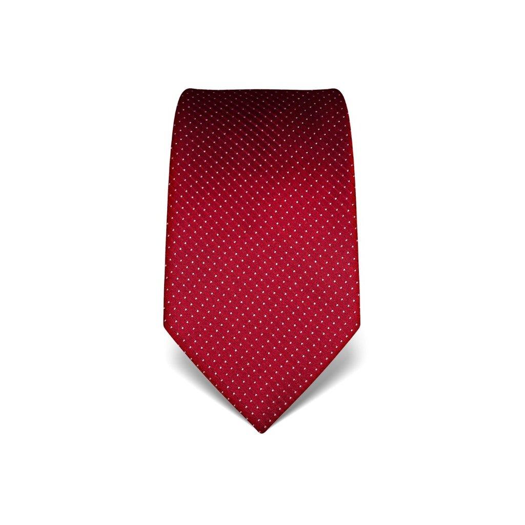 Vínová manažerská kravata s prošitím V. Boretti 21939
