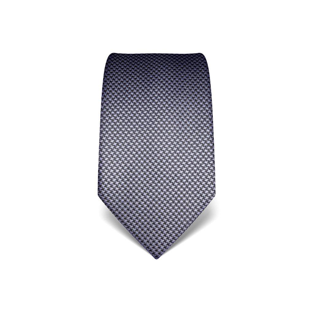 Fialová kravata Vincenzo Boretti 21937 - kohoutí stopa