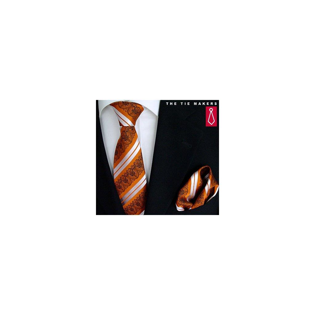 Beytnur 199-2 společenská kravata s kapesníčkem
