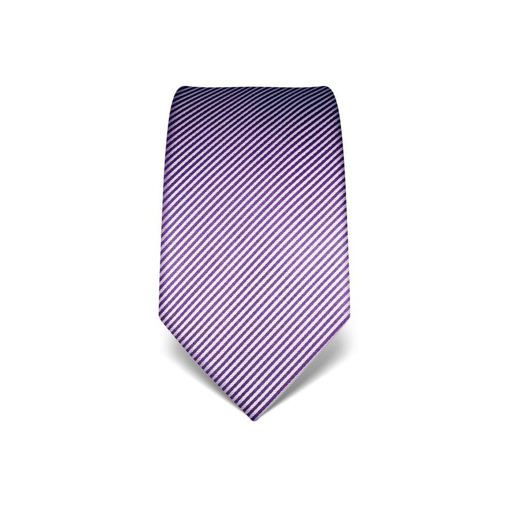 Fialová kravata Vincenzo Boretti 21941 - jemný proužek