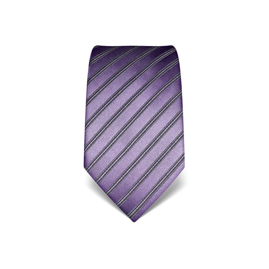 Luxusní fialová kravata Vincenzo Boretti 21940 - s prošitím
