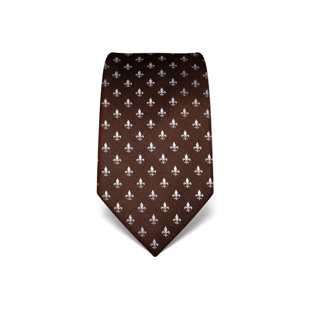 Lilie hnědá kravata Vincenzo Boretti 21922