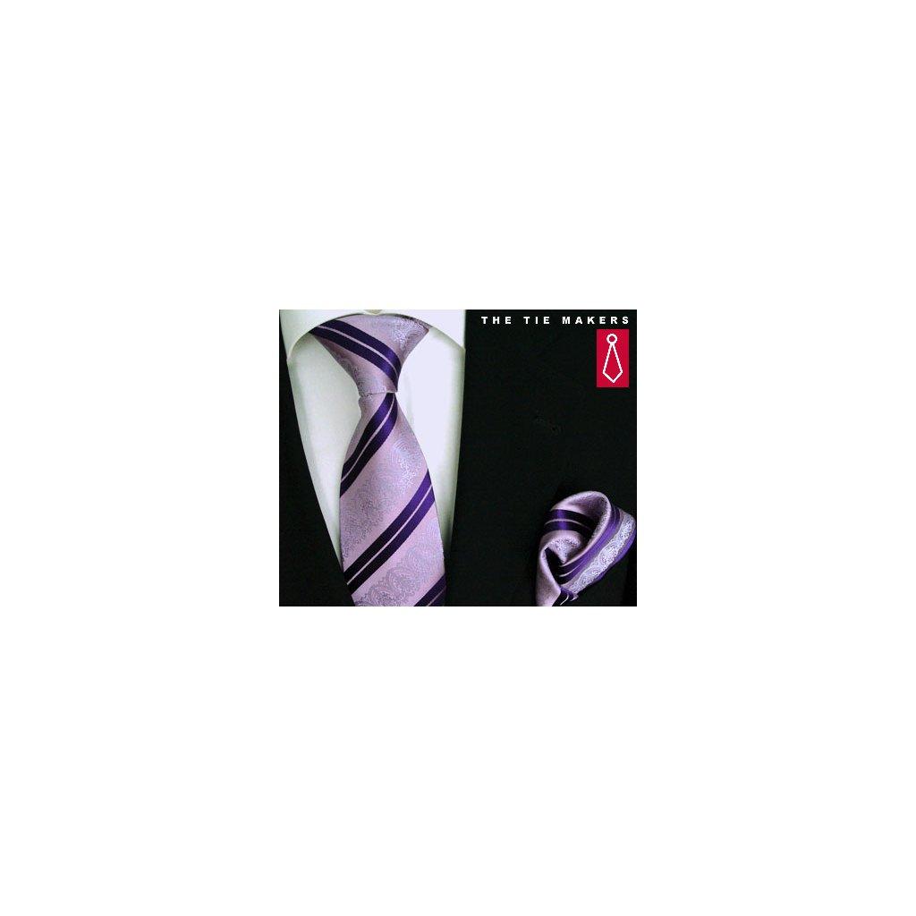Beytnur 199-3 společenská kravata s kapesníčkem